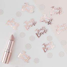 Confettis de Table EVJF Team Bride Rose Gold