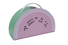 Valise en carton pastèque