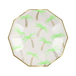 8 petites assiettes palmiers meri meri