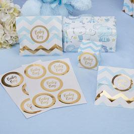 25 stickers dorés écriture Baby Boy