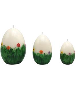 Ostereikerze: Blumenwiese
