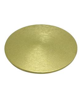 Goldener Kerzenteller, flach, Ø 100mm