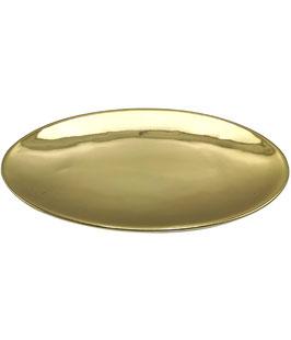 Ovaler Kerzenteller, Dekoteller, Gold