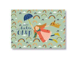 """Postkarte """"einen lieben Gruß"""""""