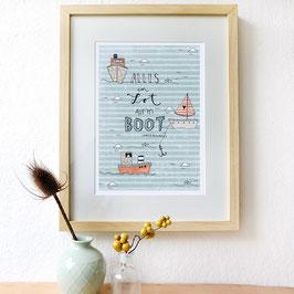 """Print """"Alles im Lot auf´m Boot"""""""