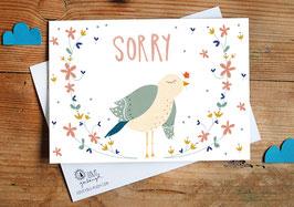 """Postkarte """"sorry"""""""