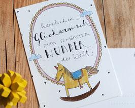 """Postkarte """"schönstes Wunder"""""""