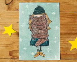 """Postkarte """"Schalmädchen"""""""