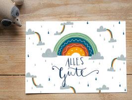 "Postkarte ""Regenbogen"""