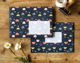 Briefumschläge Regenschirme - 10 Stück