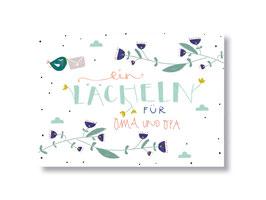 """Postkarte """"ein Lächeln für Oma und Opa"""""""