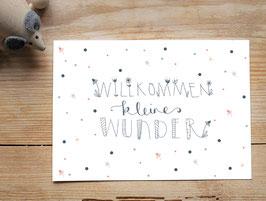 """Postkarte """"Willkommen, kleines Wunder"""""""