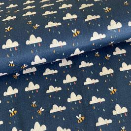 """Bio-Baumwolle """"cloudy days"""" - 0,5 Meter"""