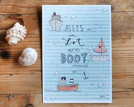 "Postkarte ""Alles im Lot"""