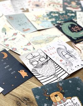 gemischtes Postkartenset - 30 Stück