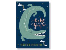 """Postkarte """"liebe Grüße von deinem guten Freund"""""""