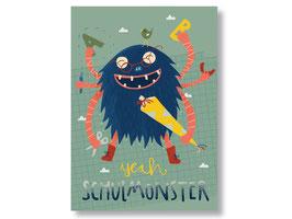 "Postkarte ""Schulmonster"""