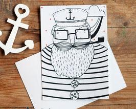 "Postkarte ""kleiner Matrose"""