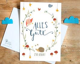 """Postkarte """"Alles Gute zur Geburt"""""""