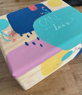 personalisierte Holzbox - handbemalt - groß