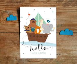 """Postkarte """"Hallo, kleiner Mensch"""""""