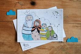 "Postkarte ""family"""