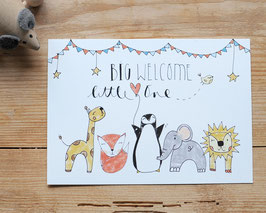"Postkarte ""Big Welcome, little one"""