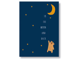 """Postkarte """"to the moon and back"""""""