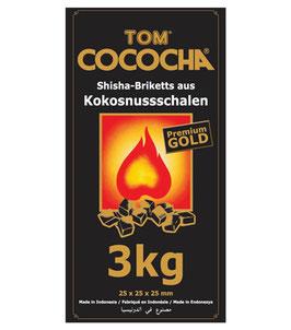 3 kg Kokosnusskohle Holzkohle Profi-Grillkohle Cococha GOLD