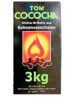 3 kg Kokosnusskohle Holzkohle Profi-Grillkohle Cococha GRÜN