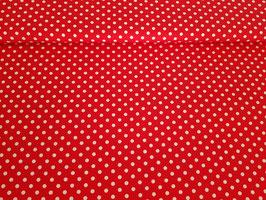 Baumwolle Punkte rot