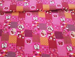 Baumwolle Prinzessinnen Patchwork pink