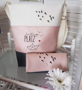 1. Trödel Tasche Kunstleder rosa