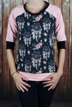 Shirt mit 3/4 Arm Traumfänger/rosa