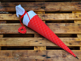 Schultüte Rot groß inkl. Scrunchie