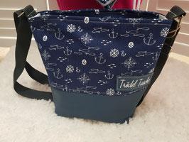 7. Mini Trödel Tasche Maritim blau