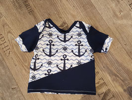 1. Shirt Anker blau/weiß Gr. 62