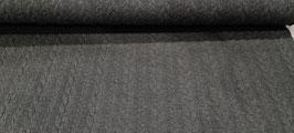 Jersey-Jacquard Zopfmuster dunkel grau