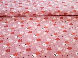 Baumwolljersey Mondschein antik rosa