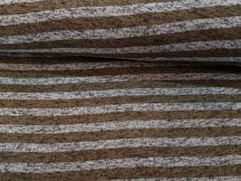 Strickfleece streifen antik khaki