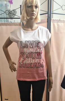 Damen-Shirt ombre rosa