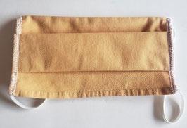 Masque en coton 3 couches  (moutarde)