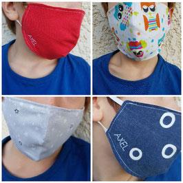 Personnalisation broderie prénom sur masque enfant ou adulte