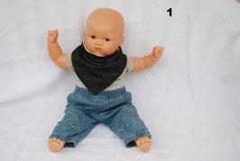 """Cache-cou ou bavoir bébé snood """"Jeans noir"""""""