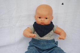 """Cache-cou ou bavoir bébé snood """"Jeans bleu"""""""