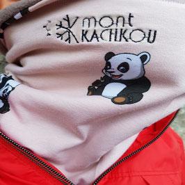 Nouveauté Cache-cou Panda rose, forme tube.