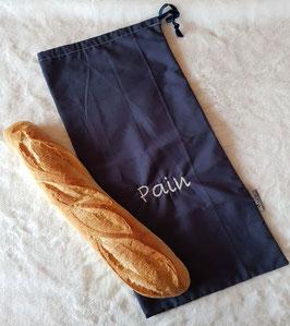 Sac à pain en tissus bleu marine
