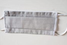 Masque alternatif en COTON BIO  3 couches avec ouverture pour insertion d'une couche isolante (uni gris)
