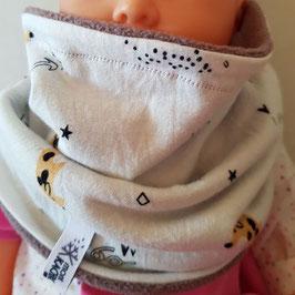 Cache-cou ou bavoir bébé snood 1