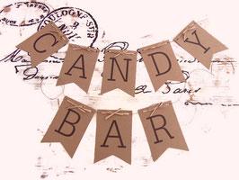 "Guirlande en kraft  ""Candy Bar"""